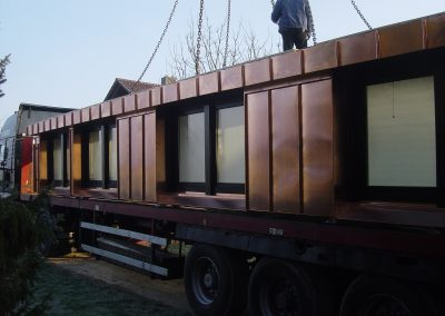 Holzbau Layh Anlieferung SPS-Gaube