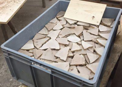 Holzscheiben: Material für Schrankfront