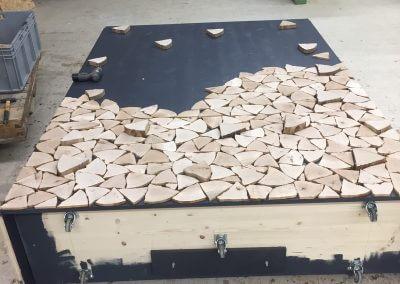 Produktion Holzschrank