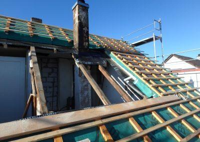 Holzbau Layh Dach vor Montage SPS-Gaube