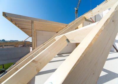 Montage Balken Dach komplett