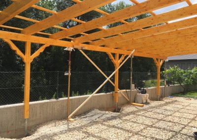 Holzbau Layh Montage Aufrichten Pergola
