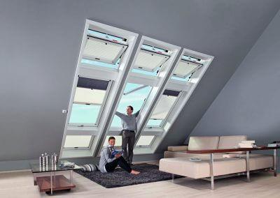 Holzbau Layh Kombinationseinbau Dachfenster