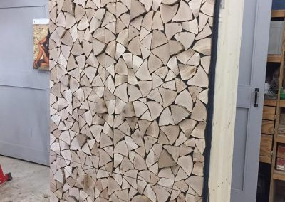 Holzschrank fertig